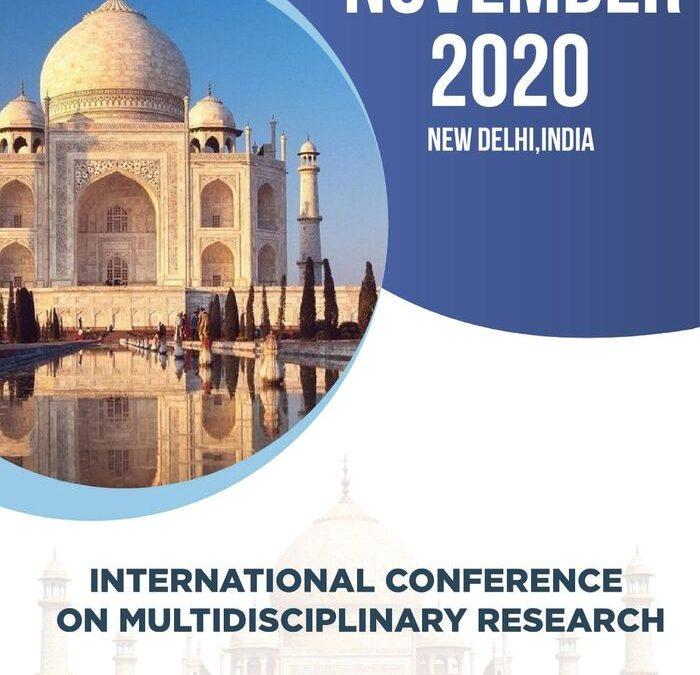 International conference on multidisciplinary research, November, 2020